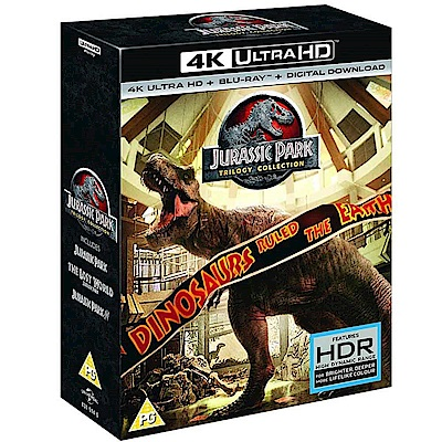 侏儸紀公園 三部曲 UHD+ BD 六碟版 藍光 BD
