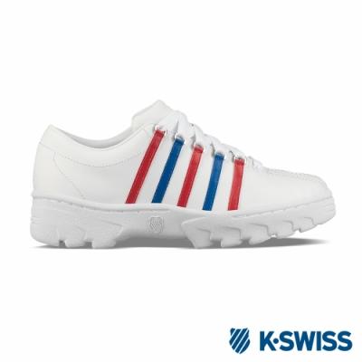 K-SWISS North Classic復古鋸齒鞋-女-白/藍/紅