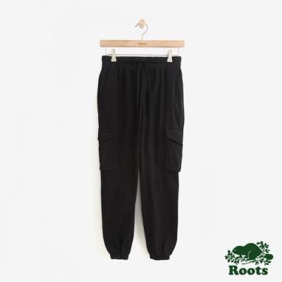 女裝Roots- 抽繩口袋休閒褲-黑