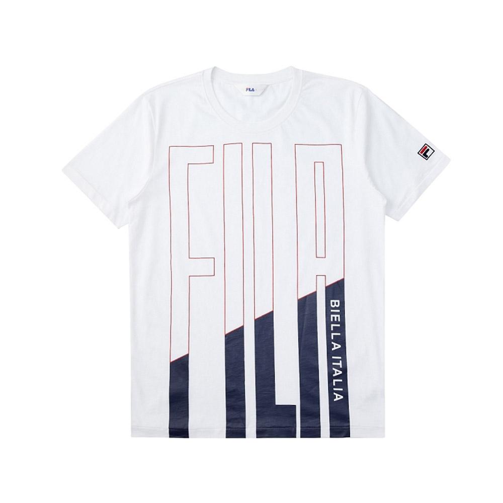 FILA 短袖圓領T恤合身版-白色 1TEV-1519-WT