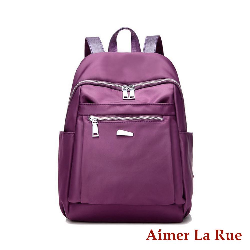 Aimer La Rue 輕量休閒尼龍後背包-紫色(快)