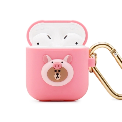 GARMMA LINE FRIENDS AirPods 1&2代耳機盒保護套 小豬熊大