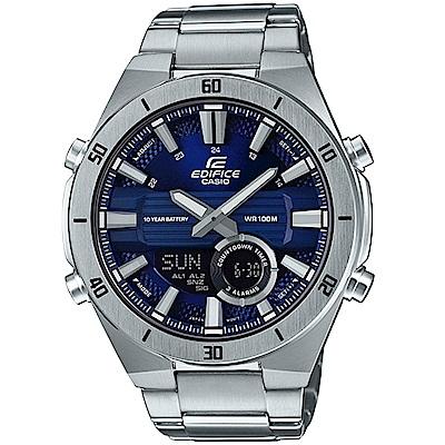 CASIO卡西歐EDIFICE 10年電力3D立體時尚腕錶(ERA-110D-2A)-藍