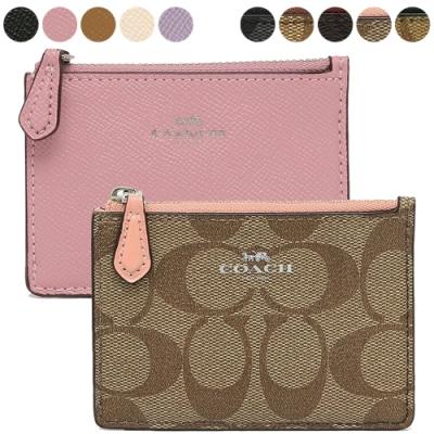 COACH 防刮皮革鑰匙零錢包(多款多色)