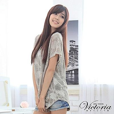 Victoria 長版女T-女-棕色