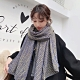 【89 zone】法式優雅千鳥格格子保暖圍巾/披肩(紫) product thumbnail 1