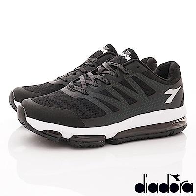 DIADORA-Q彈穩定氣墊跑鞋款 SI630黑(男段)