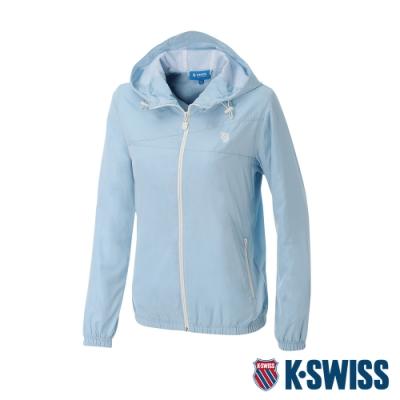 K-SWISS Solid Windbreaker 3風衣外套-女-淺藍