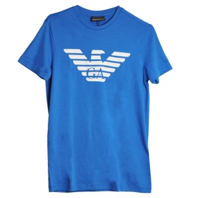 ARMANI EXCHANGE 品牌字母LOGO圖騰圓領T恤(深藍)