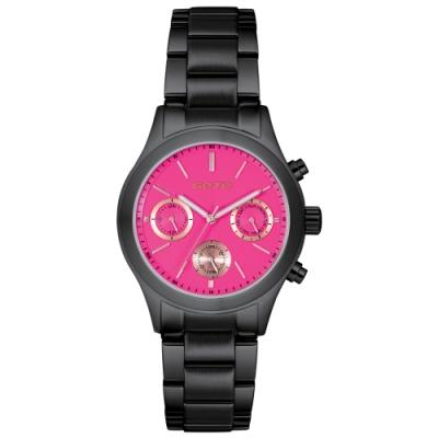 GOTO Pretty Girl時尚腕錶-IP黑x桃/39mm