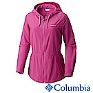 Columbia 哥倫比亞 女款-防曬30長版連帽外套-桃紅UAR21260FC