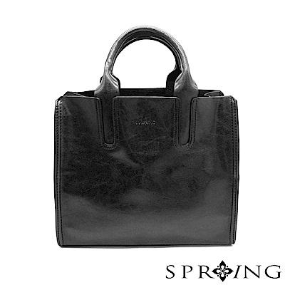 SPRING-朴秘書的柔軟真皮方包-紳士黑