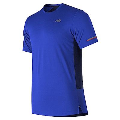 New Balance 短袖上衣 AMT81200PC 男性 藍色