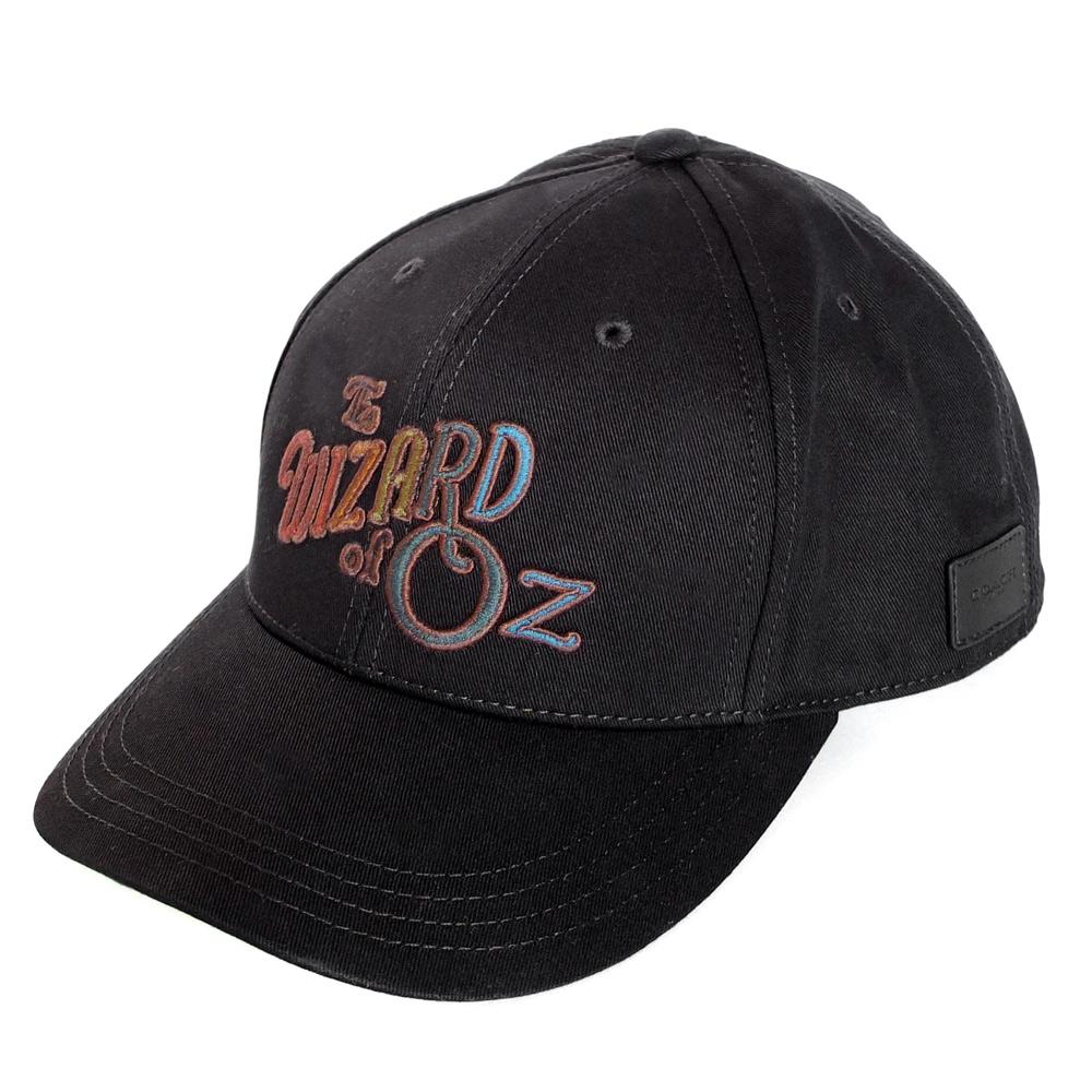 COACH綠野仙蹤黑色彩虹繡字鴨舌帽/棒球帽COACH