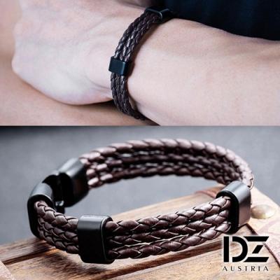 DZ 三線編織 圈環手環手鍊(棕系)