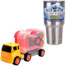 《Construction Vehicles》可拆式提把工具組拖板車+冰霸杯組