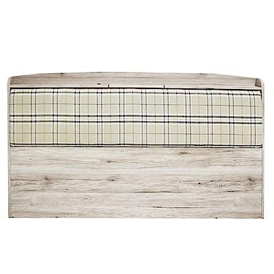 綠活居 蘇亞工業風5尺亞麻布雙人床頭片-158x15x98cm免組