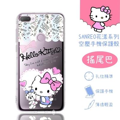 【Hello Kitty】HTC Desire 12+ / 12 Plus 花漾系列 氣墊空壓 手機殼(搖尾巴)