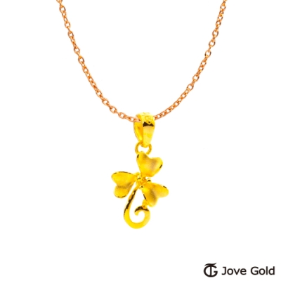Jove Gold 漾金飾 花精靈黃金墜子 送項鍊
