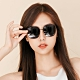 ALEGANT韓系超人氣夜幕黑微方黑細框偏光墨鏡│UV400太陽眼鏡│威尼斯的河岸詠嘆 product thumbnail 1