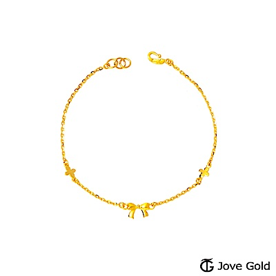 JoveGold漾金飾 美好時光黃金手鍊