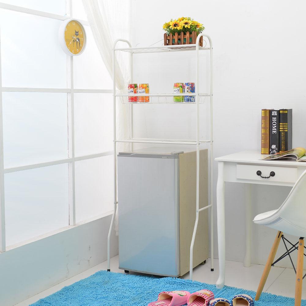 【品樂生活】多用途置物架-籃網(贈PP板1片)馬桶架/小冰箱架