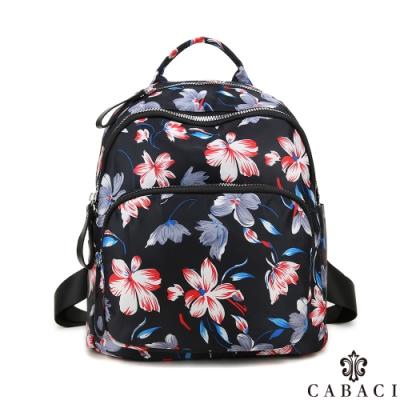 CABACI 花系列輕量尼龍材質後背包-繽紛花卉