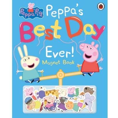 Peppa Pig:Peppa s Best Day Ever Magnet Book 佩佩豬最美好的一天磁鐵書
