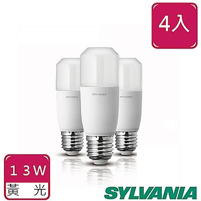 喜萬年SYLVANIA 13W LED 小小冰極亮燈泡-黃光 4入組
