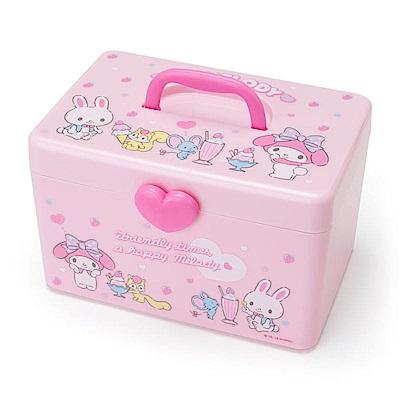 Sanrio 美樂蒂雙層式PP收納提箱/化妝提箱(美味甜點)
