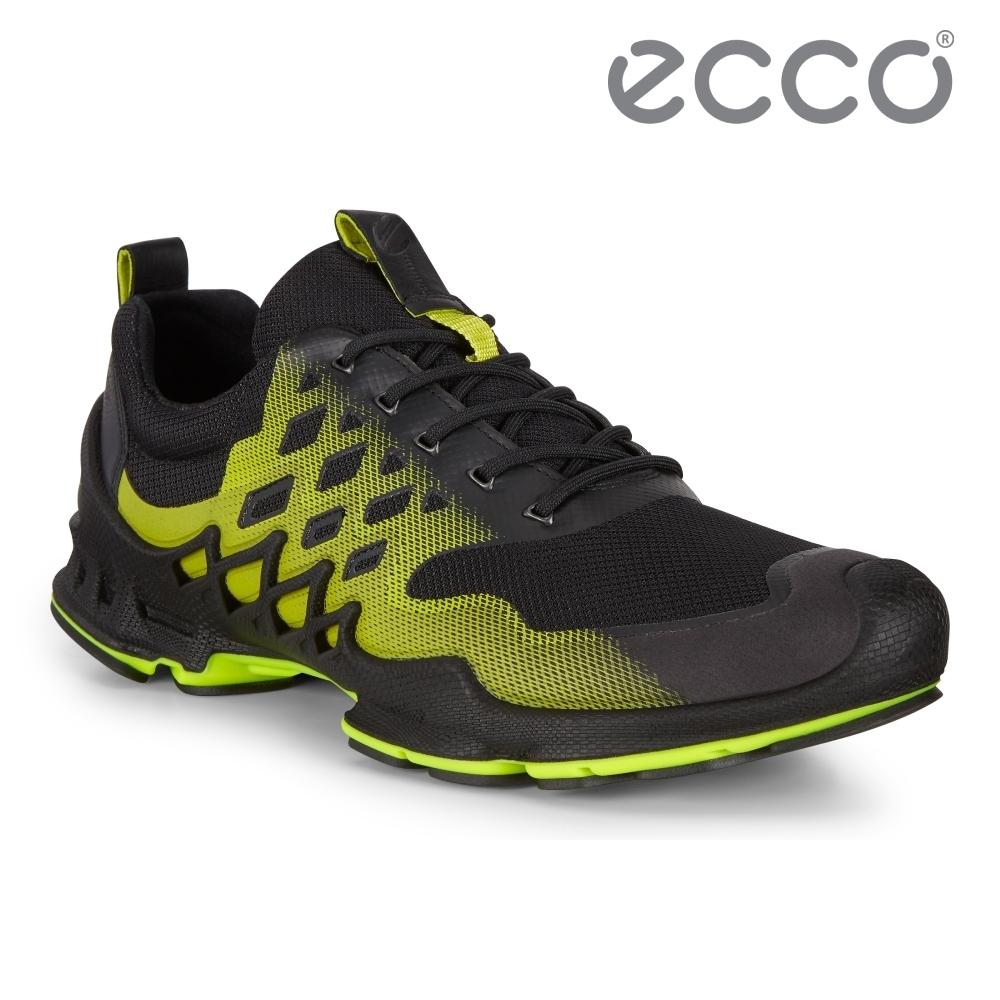 ECCO BIOM AEX M 健步探索戶外運動鞋 男鞋 黑色/青檸色
