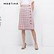 【MASTINA】格子拼接排釦-裙子(粉色) product thumbnail 1