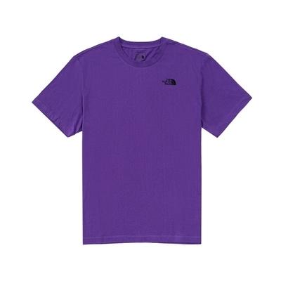 The North Face 男女 背部山峰印花短袖T恤 紫-NF0A5JTTNL4