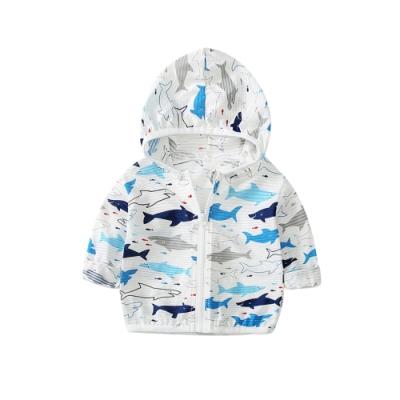 Baby童衣 韓版兒童外套 男童寶寶薄款連帽防曬外套 可愛獅子外套 鯊魚外套 88462