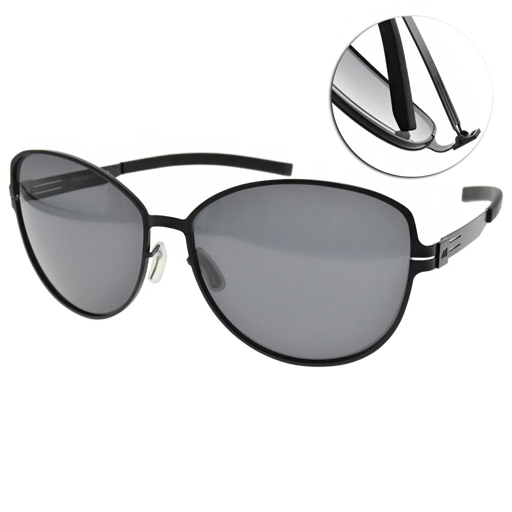 MIZUNO美津濃太陽眼鏡 偏光大圓框款/黑-灰 # MF260 C18