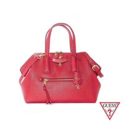 GUESS-女包-氣質皮革手提肩背包-紅