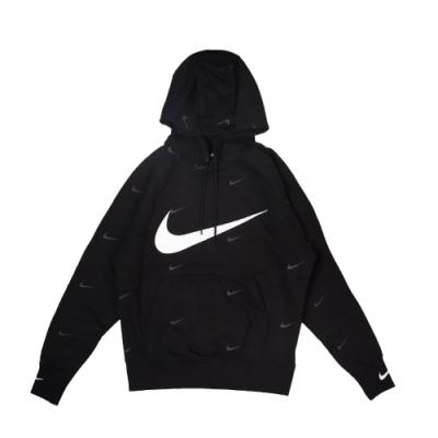 Nike 帽T NSW Pullover Hoodie 男款 運動休閒 大勾 滿版小勾 連帽上衣 穿搭 黑 白 DA0111010