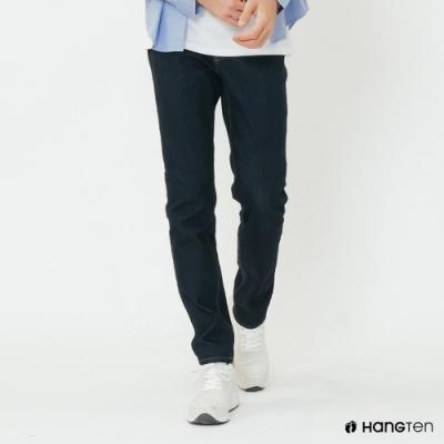 Hang Ten - 男裝 - 時尚風素面修身牛仔長褲 - 藍