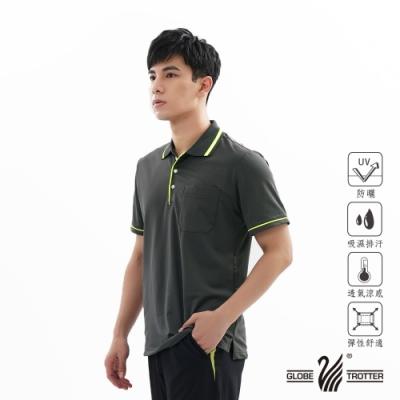 【遊遍天下】MIT男款吸濕排汗抗UV機能POLO衫GS1001深灰綠