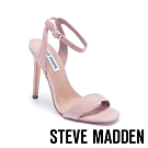 STEVE MADDEN-LATE 一字帶細高跟涼鞋-粉藕色