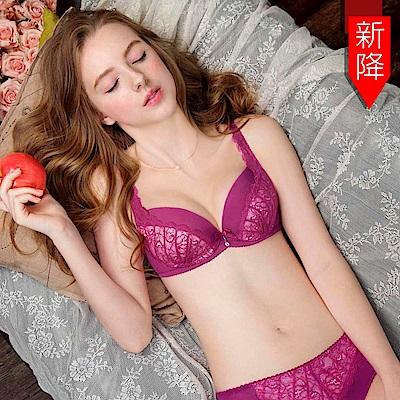 瑪登瑪朵-15AW-我挺妳蕾絲內衣  B-E罩杯(桃紅紫)