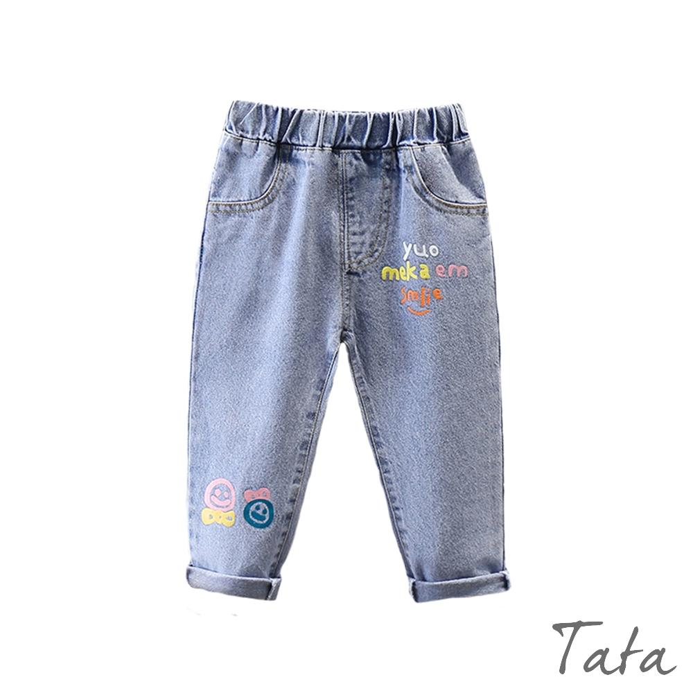 童裝 俏皮字母印花鬆緊牛仔褲 TATA KIDS