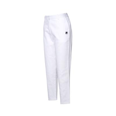 FILA 女平織長褲-白色 5PNT-5712-WT