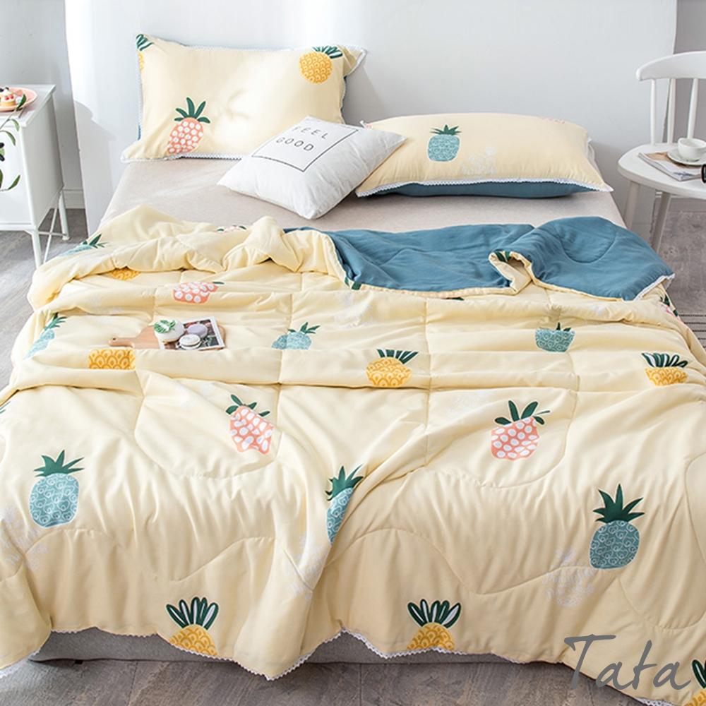 鳳梨圖樣夏季棉被枕套 單人款 TATA
