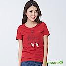 bossini女裝-印花短袖T恤03紅