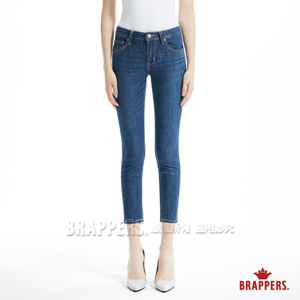 BRAPPERS 女款 新美腳 Royal 系列-中腰彈性九分褲-深藍