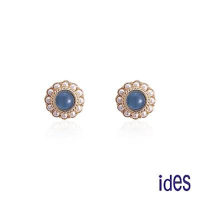 ides愛蒂思 時尚輕珠寶淡水貝珠耳環/古典浪漫
