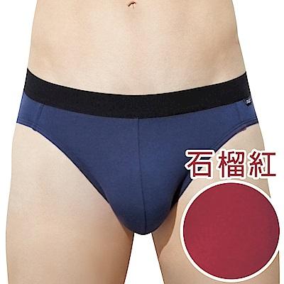 SOLIS TopCool系列M-XXL素面貼身三角男褲(石榴紅)