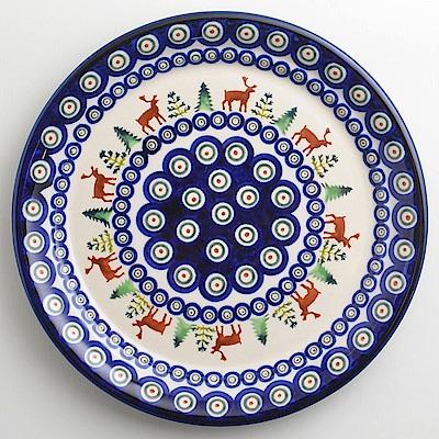 【波蘭陶 Zaklady】 歡樂聖誕系列 圓形餐盤 25cm 波蘭手工製