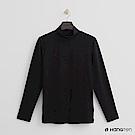 Hang Ten - 男裝-ThermoContro-高領質感純色保暖上衣-黑